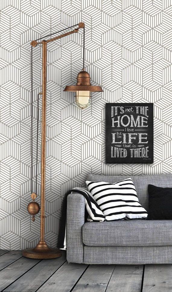 Cube self adhesive wallpaper