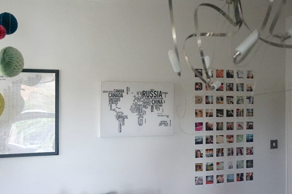 DIY Instagram Wall Display