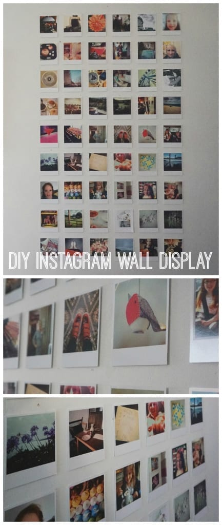 How to create a DIY Instagram Wall Display