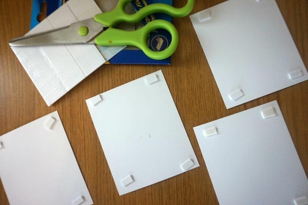 Wall art sticky pads
