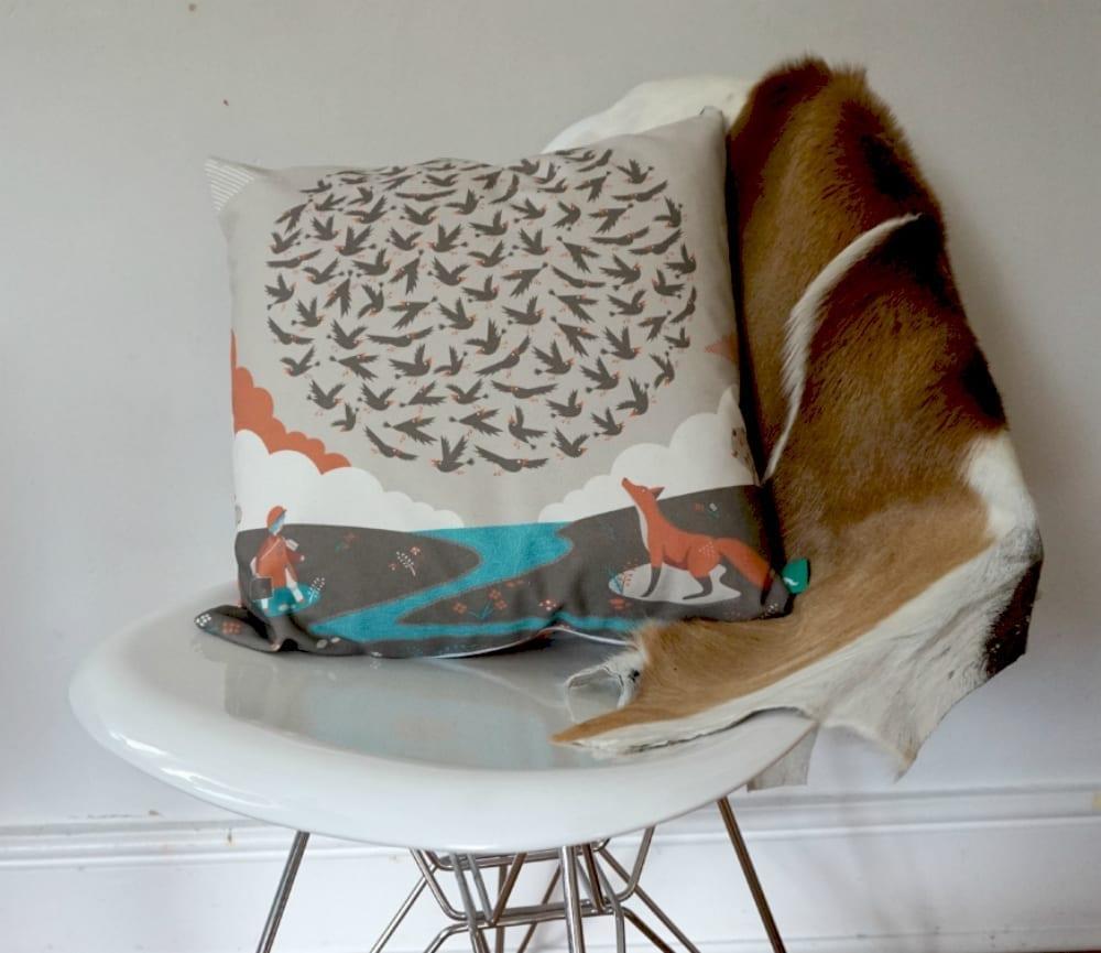 100 Starlings Rising cushion