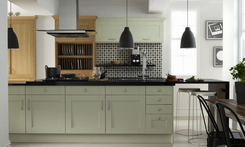 Modern country by linda barker at wren kitchens love for Shaker style kitchen units