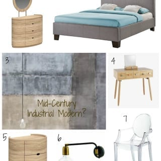 #ProjectAttic Bedroom Moodboard