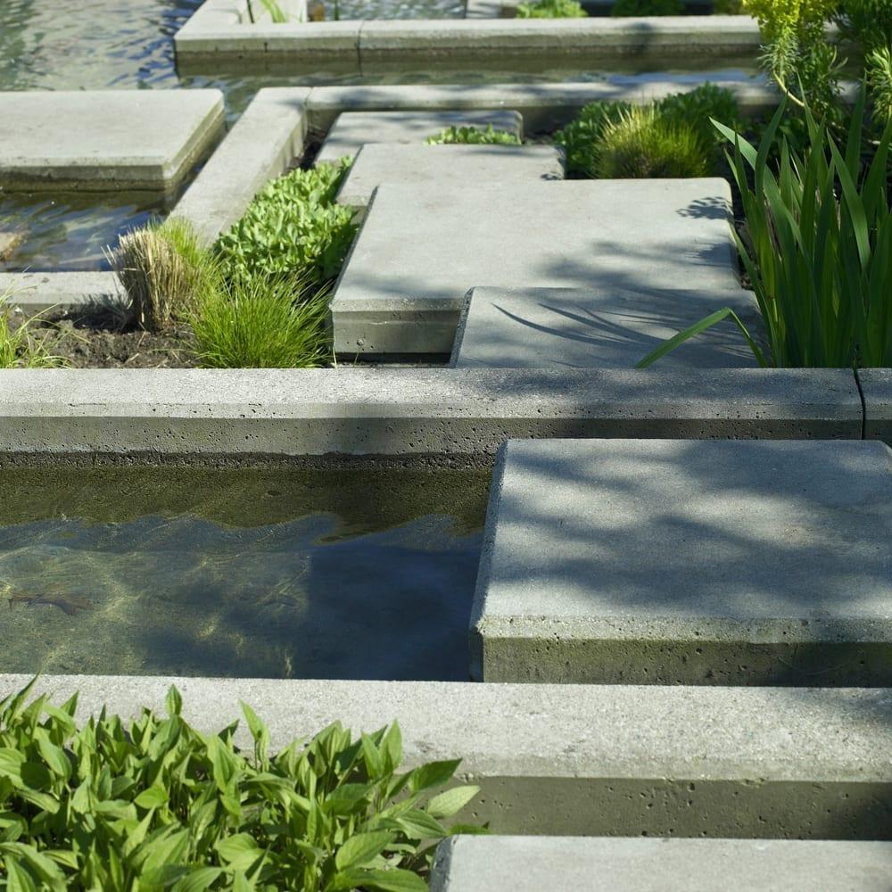 Urban garden water feature