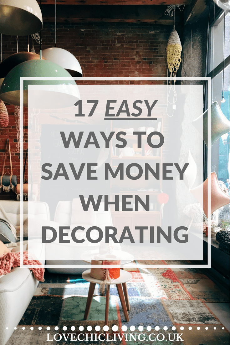 Easy tips and ideas on saving money when you're decorating your home, and how to design your home on a budget, keeping it stylish and on-trend. Some of these you won't have come across before. Creative and unusual ways of decorating and remodelling your home interiors you'll love.