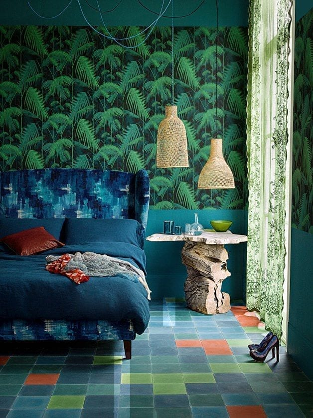 create your own jungle wallpaper print love chic living. Black Bedroom Furniture Sets. Home Design Ideas