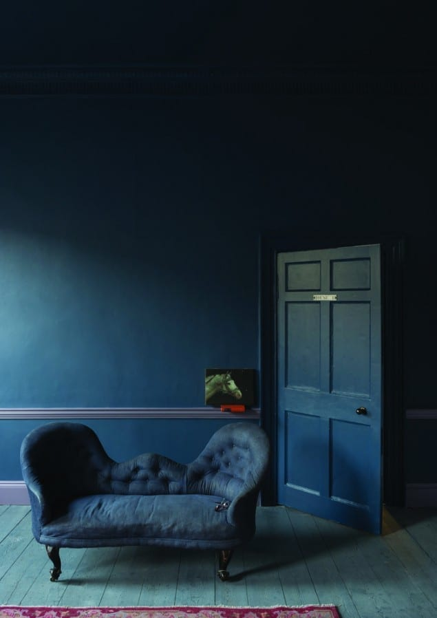 decorating with inky blue