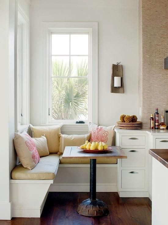 Five stylish space saving ideas for your kitchen redesign for Small kitchen eating area ideas