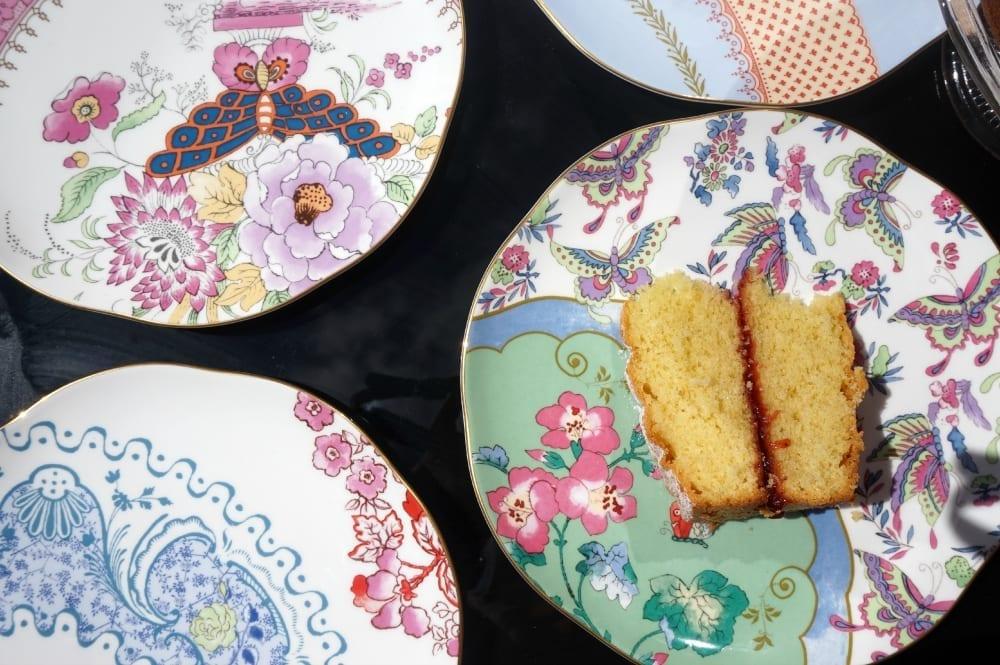 Butterfly bloom tea plates