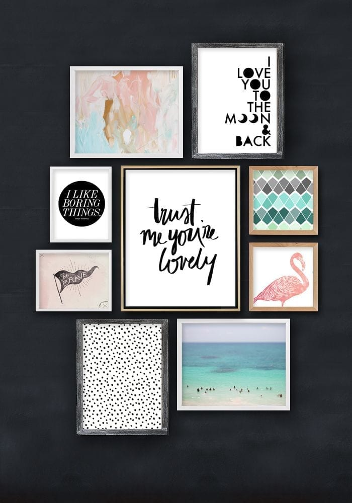 Printable wall art stylechallenge love chic living - Ideas de cuadros ...