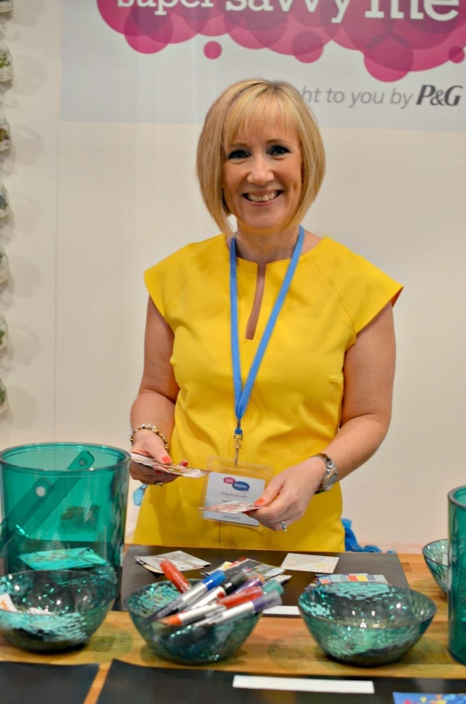 Jen Stanbrook at Britmums Live on the SuperSavvyMe stand