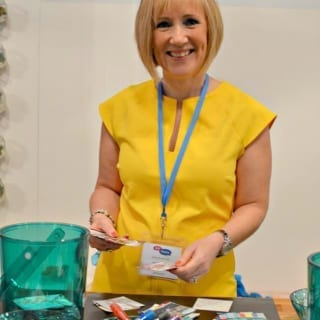 Jen Stanbrook at Britmums Live on the SuperSavyyMe stand