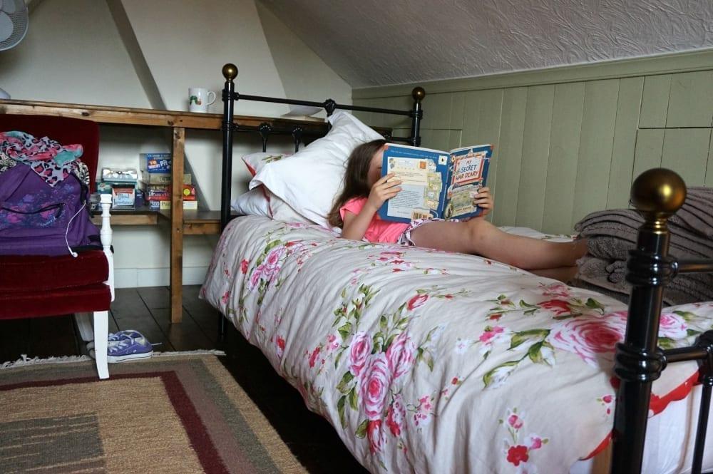Loft bedroom reading