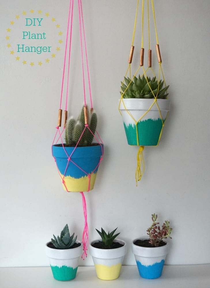 Diy Succulent Planters And Macrame Hangers Tutorial Love