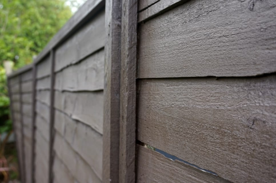 Finished fence close up