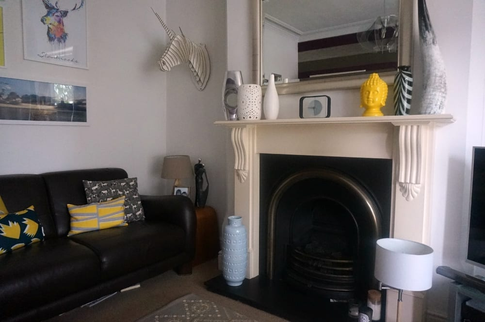 Fireplace after full shot