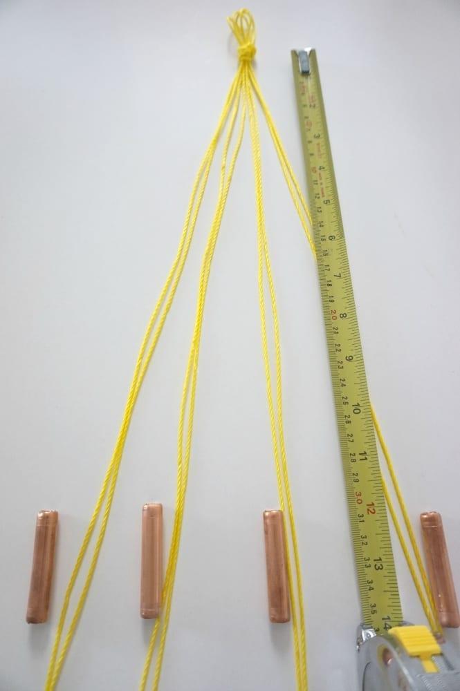 Measure strands add copper pipe