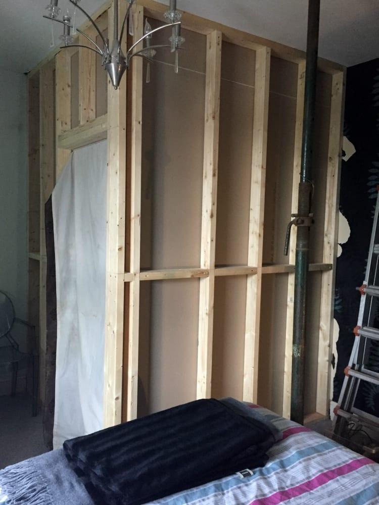 Bedroom stud walls