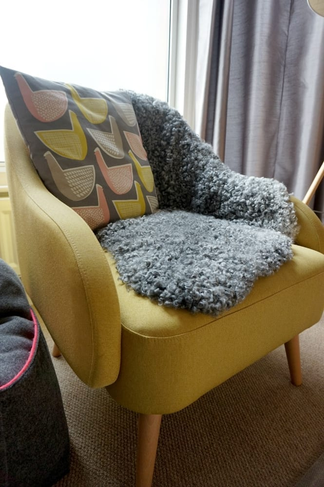 Sheepskin on the chair