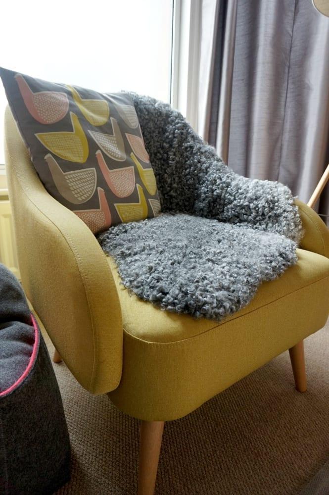 Sheepskin on the chair
