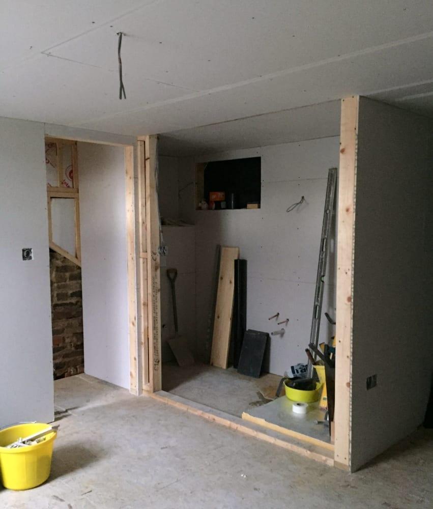 Plasterboarded en suite