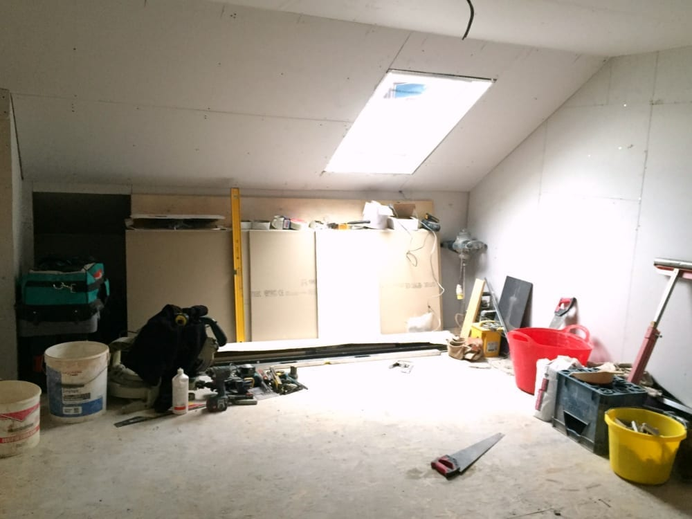 Velux and plasterboard