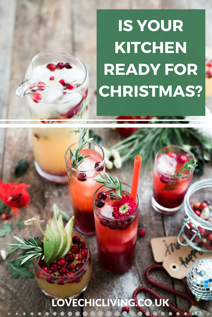Prepare your kitchen for christmas with these 10 handy ideas. Is your kitchen up to the job? Are you prepared for what your kitchen has to do this Christmas? Check out the list and make sure your kitchen is perfect for the festive season #christmashome #christmastips #christmaskitchen # festivehome #festivekitchen