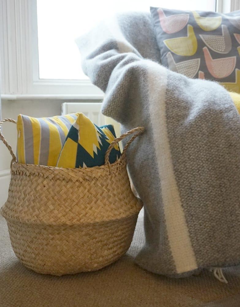 Rose and Grey basket