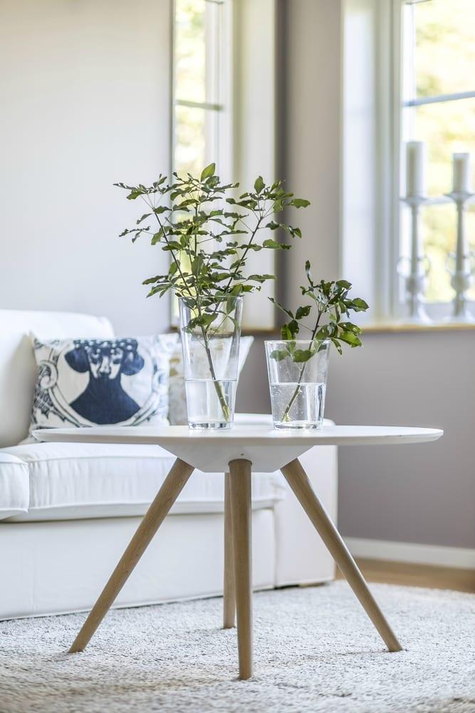 Scandi wooden side table