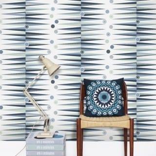 Wallpaper Wednesday: Blue Geometric Designs