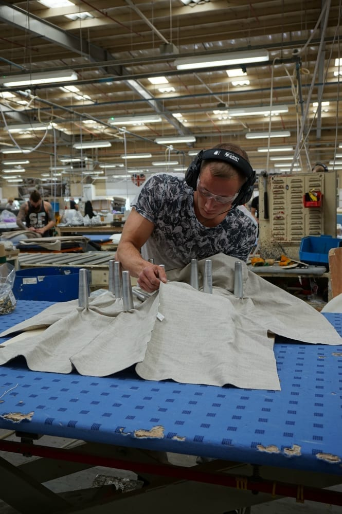 Upholstering Britannia in the factory