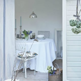 All white garden room