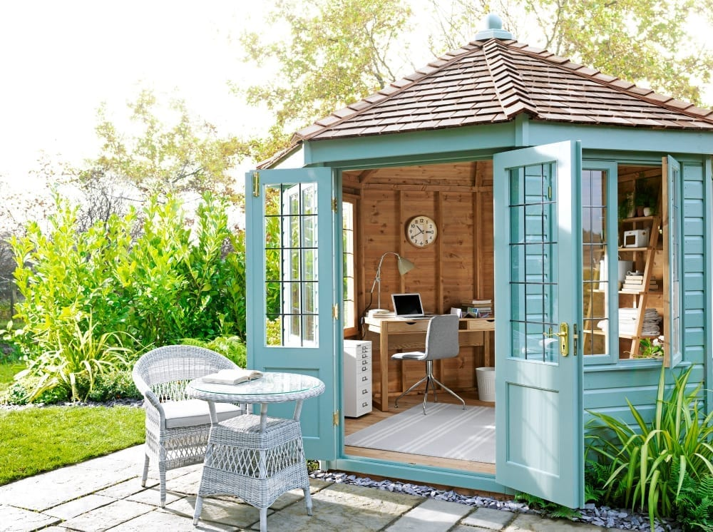 Top tips for creating the perfect she shed love chic living for Garden house office