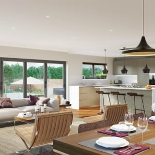 Open plan living and bifold doors