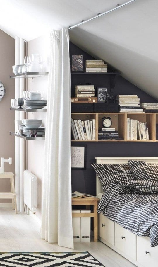 10 easy ways to decorate a small bedroom on a budget for How to make more space in your bedroom