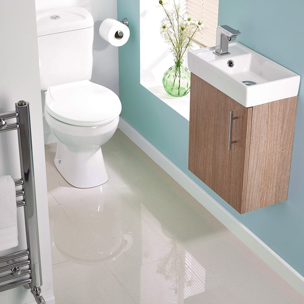 Big ideas for small cloakrooms love chic living for Small bathroom designs no toilet