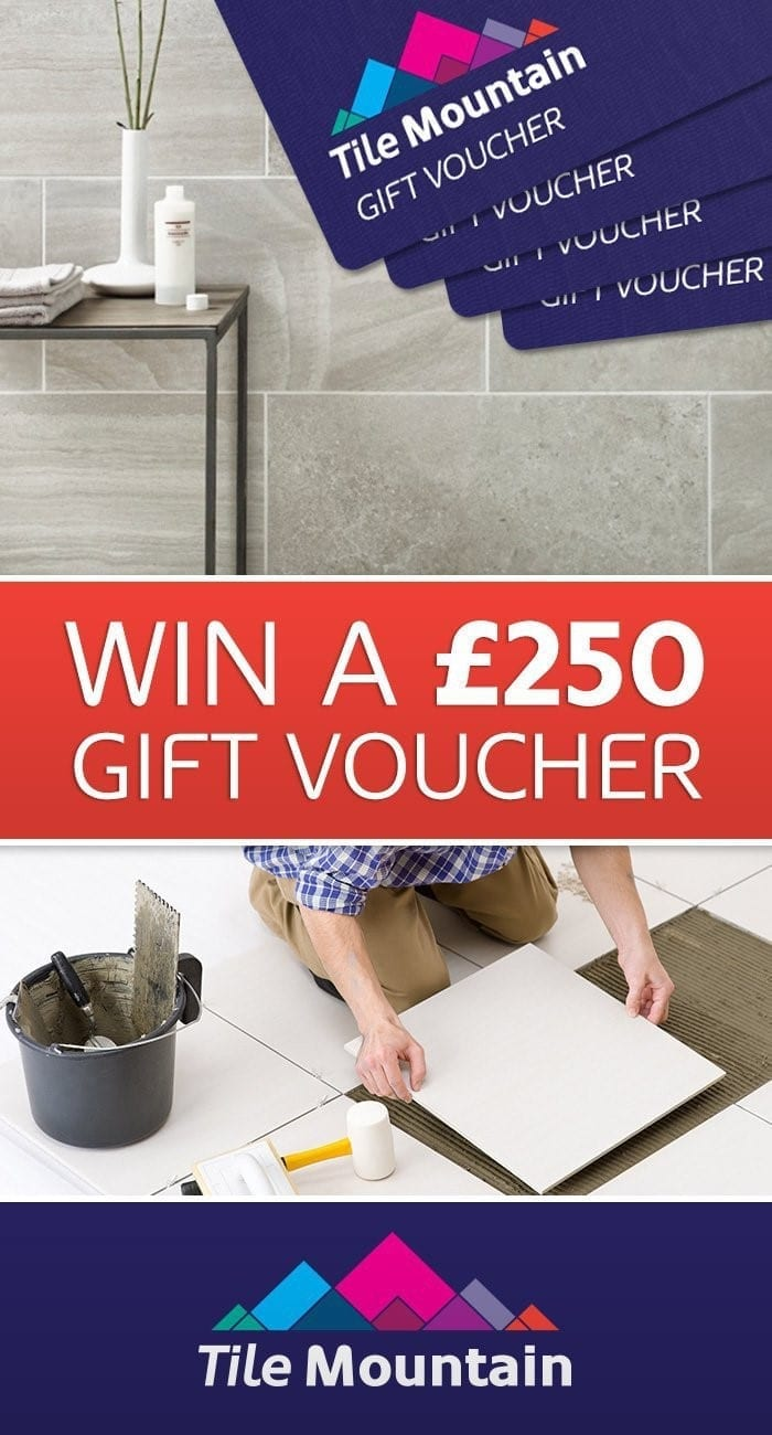 win £250 to spend at tile moutain