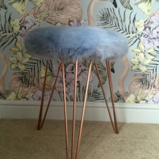 WIN a Super Luxe Faux Fur Stool from Suburban Salon worth £165