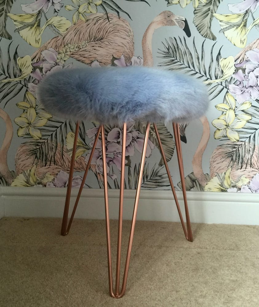Win A Super Luxe Faux Fur Stool From Suburban Salon Worth