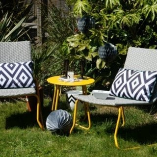Outdoor Styling: One Garden Bistro Set Two Looks