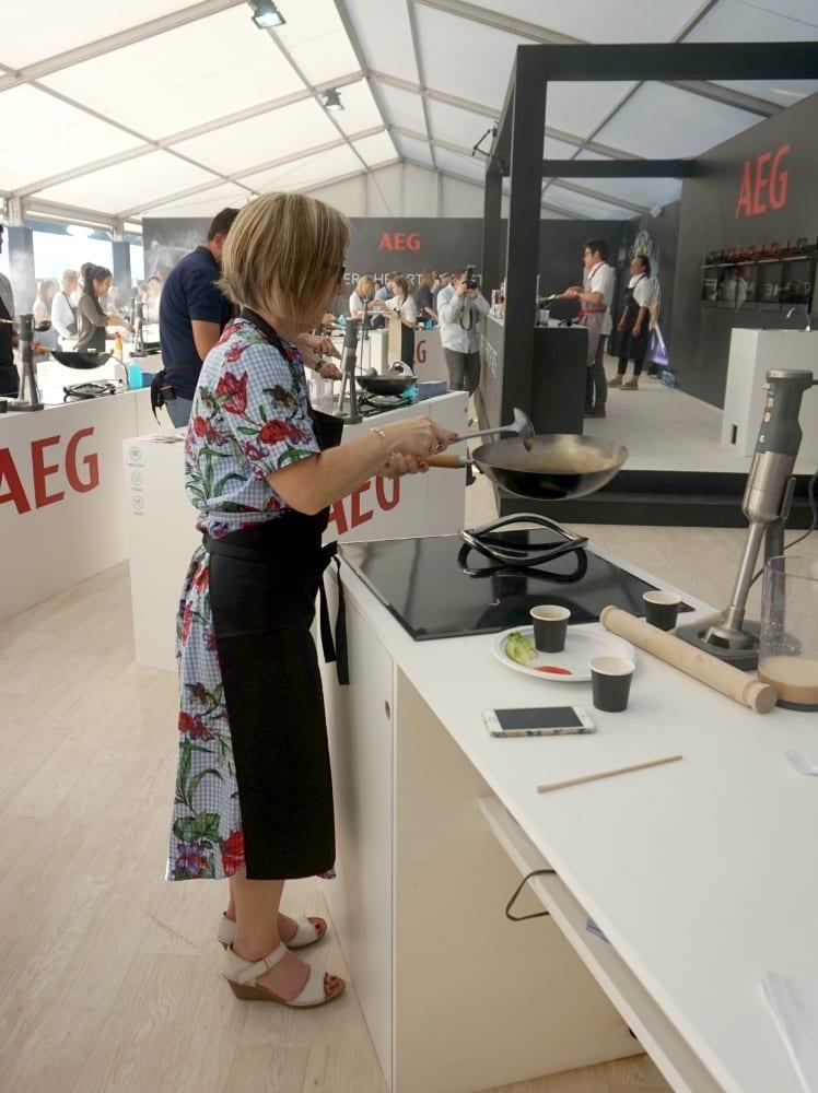 AEG masterclass at Taste of London with School of Wok