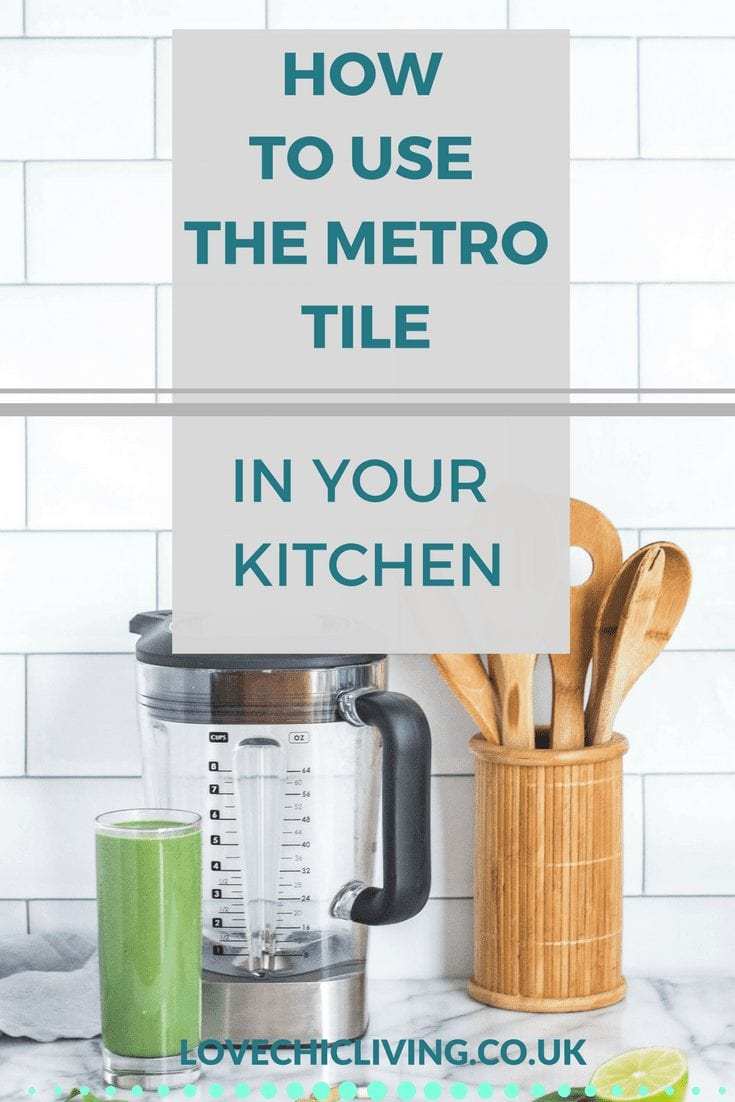 Ideas and inspiration for using metro tiles in a kitchen. When to choose colours like grey, cream, duck egg and sage. How to add as a splashback, use coloured grout and more. Love the look of these tiles, click through to find out more.