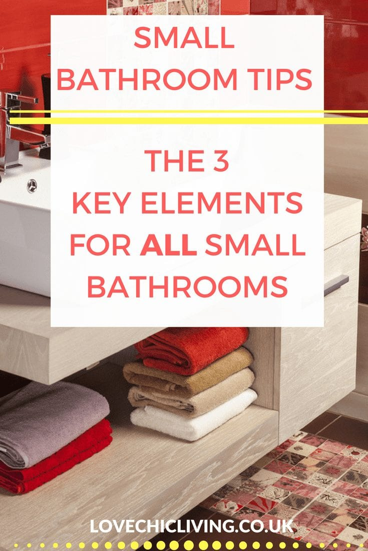 Decorating a small bathroom is so hard, but there are 3 main ways to make it warm, cosy and inviting. Check out these bathroom tips. They're essential for your bathroom reno, bathroom makeover or bathroom decorating project. #smallbathroom #bathroommakeover #bathroomtips #bathroomdesign