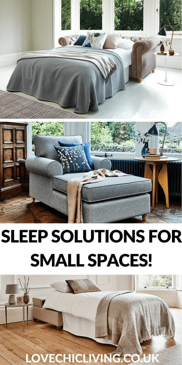 If you don't have room for a spare bedroom, but like to welcome overnight guests you'll need a clever sleep solution. Check out these 3 amazing ideas from the bed in a box, to stylish sofa beds and the day bed! All ideal for visitors and a restful night's sleep #smallroom #sleepsolution #sofabed #daybed