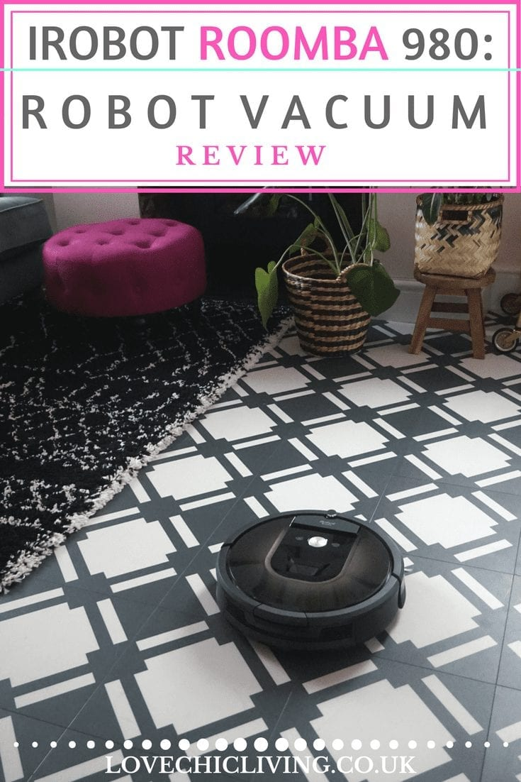 Ever wondered if a robot vacuum is worth it? Check out this full review of the irobot Roomba 980 to see how it performs in a real home and and whether it's worth the investment. #roombareview #irobotlove #roomba980 #irobotroomba #lovechicliving