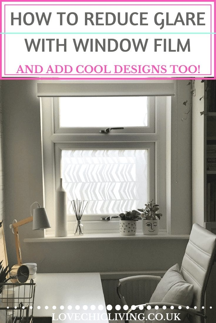 When your windows let in too much sunlight or you want to add privacy to your home but not block out light, window film is the answer. Check out these amazing MissPrint designs - I love a chevron - and there are so many more available too #lovechicliving #ukhomeblogger #interiorsblogger