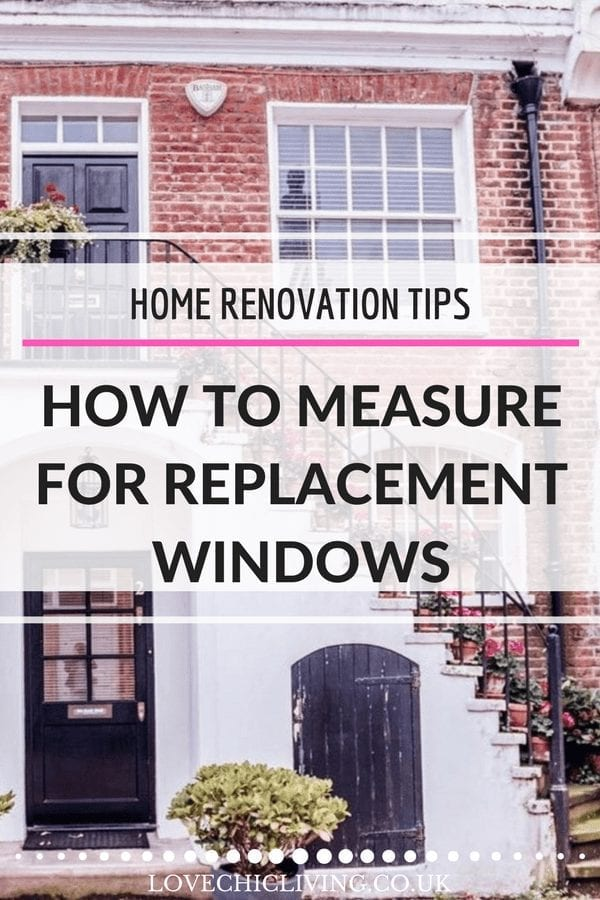 If you are about to buy replacement windows, and plan to measure for them yourself, be careful! If you get it wrong it can cost you a LOT of money. Click through for the guide on how to measure for your next set of replacement windows accurately #lovechicliving #renovationtips #newwindows