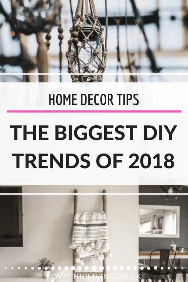 Looking for the biggest DIY trends of 2018? Look no further. From macrame to pom poms, wood burning and cubby houses, these are the DIY projects that many are taking on in the their homes this season. What's your favourite? #lovechicliving #diytrend