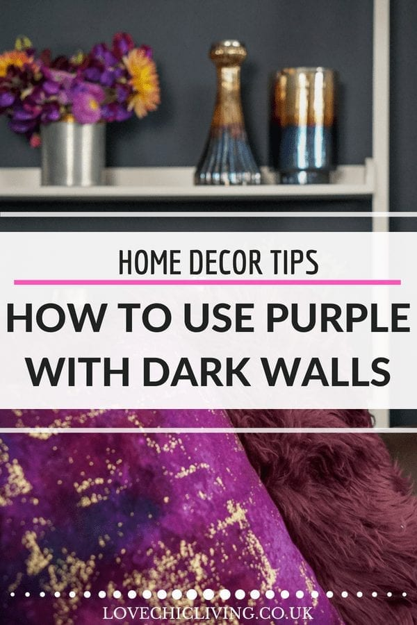 If you love purple but have no idea how to use it in your home, check out how amazing rich purple and gold accessories look so amazing in dark rooms. The dark wall trend is here to stay so update it for Autumn with vibrant hues of Pantone's colour of the year, and give your interior design a trendy look for this coming cold season #lovechicliving #abyamamaraAW18 #abyamara #purpledecor #purplehomeaccessories
