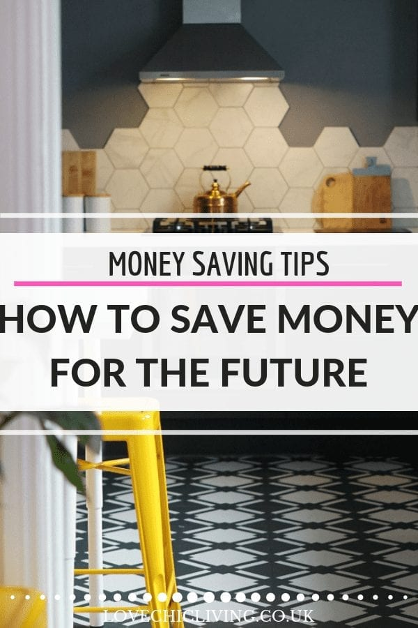 If you don't have long-term savings plans now is the time to start. If you save for things like holidays, home renovations you might need to consider retirement funds or pension savings. There are good reasons to do it including a better return on your money and to help your kids finances too. Here's how to save money for the future #lovechicliving #moneytips #moneygoals #savingsideas